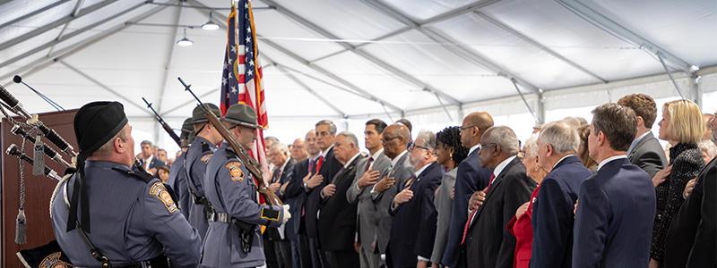 Photo of pledge of allegiance