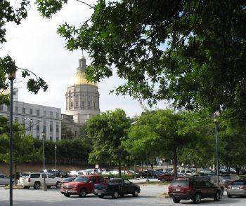 The Georgia State Capitol Building.