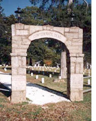 Photo of cemetery entrance