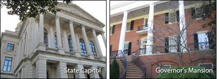 Photos of State Capitol and Governor's Mansion