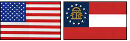 Image of U.S. and Georgia flags